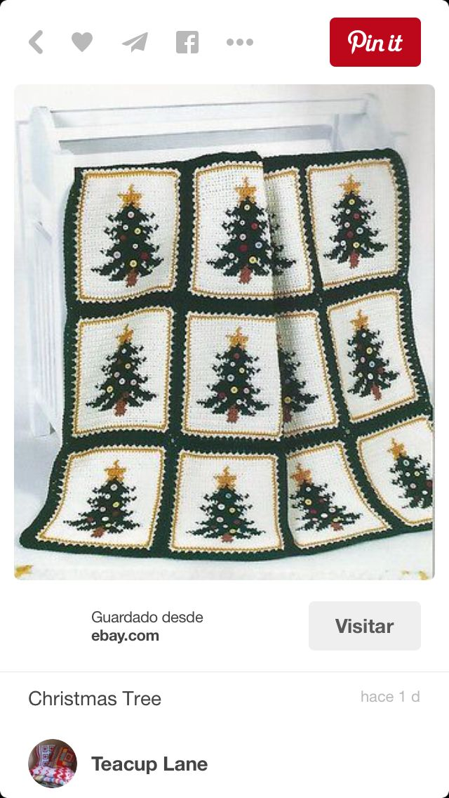 Tejido en crochet arbilitos navideños | Craft Ideas | Pinterest ...