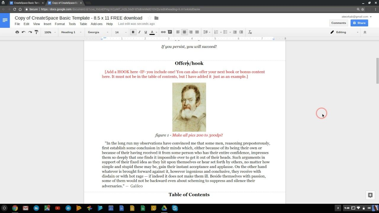 Get your FREE CREATESPACE Template here! How to use the CreateSpace ...