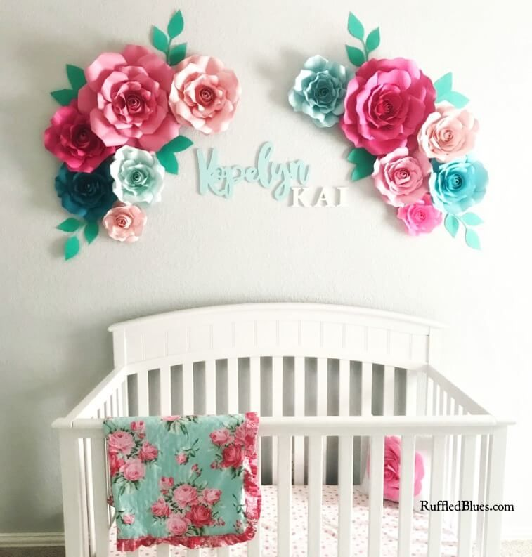 Free Flower Template How To Make Large Paper Flowers Paper