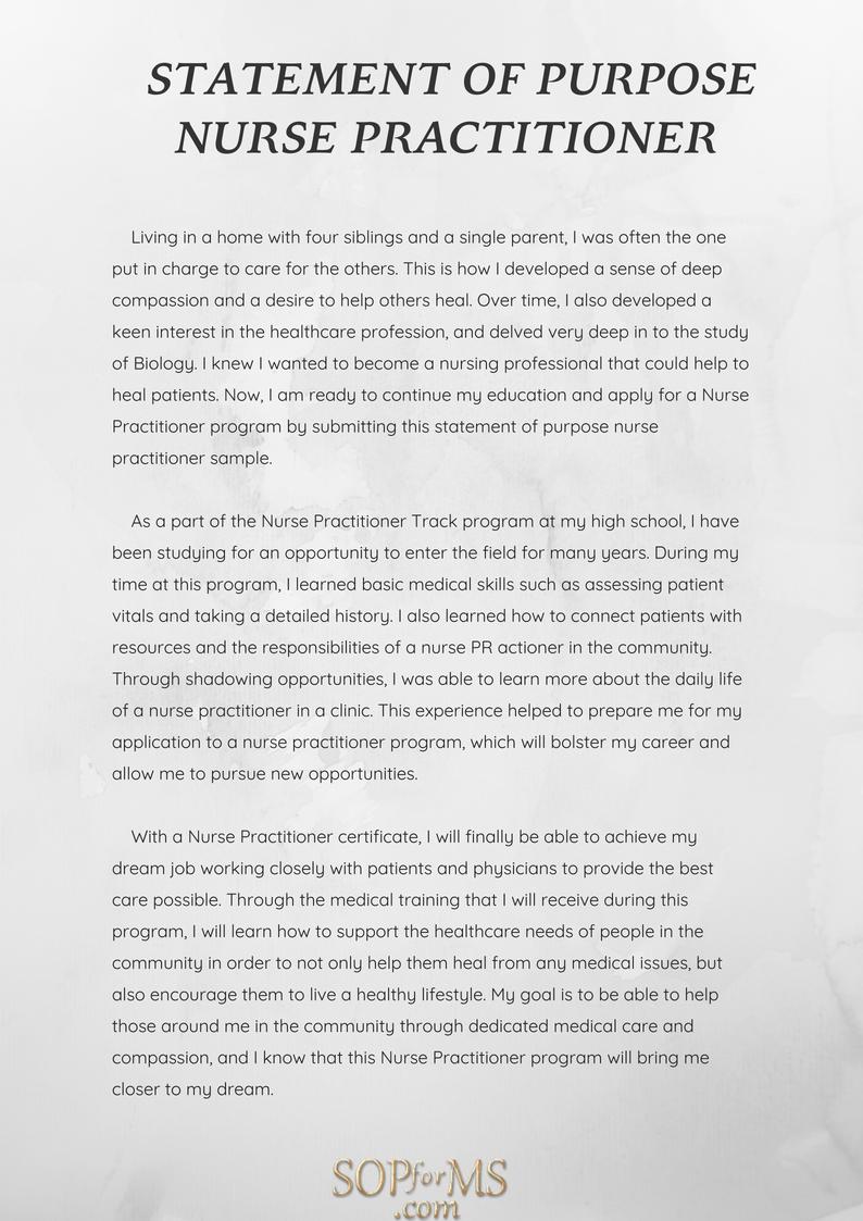 Get Statement Of Purpose Nurse Practitioner Sample Here Http Www Sopforms Com How Scholarships For College Nursing School Scholarships Online Nursing Schools