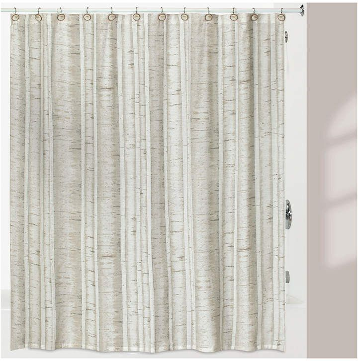Creative Bath White Birch Shower Curtain Fabric Shower Curtains