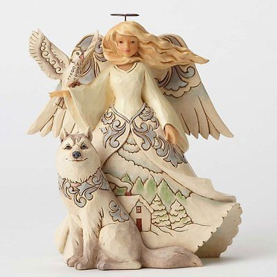 Jim Shore's White Woodland Angel - New For 2016
