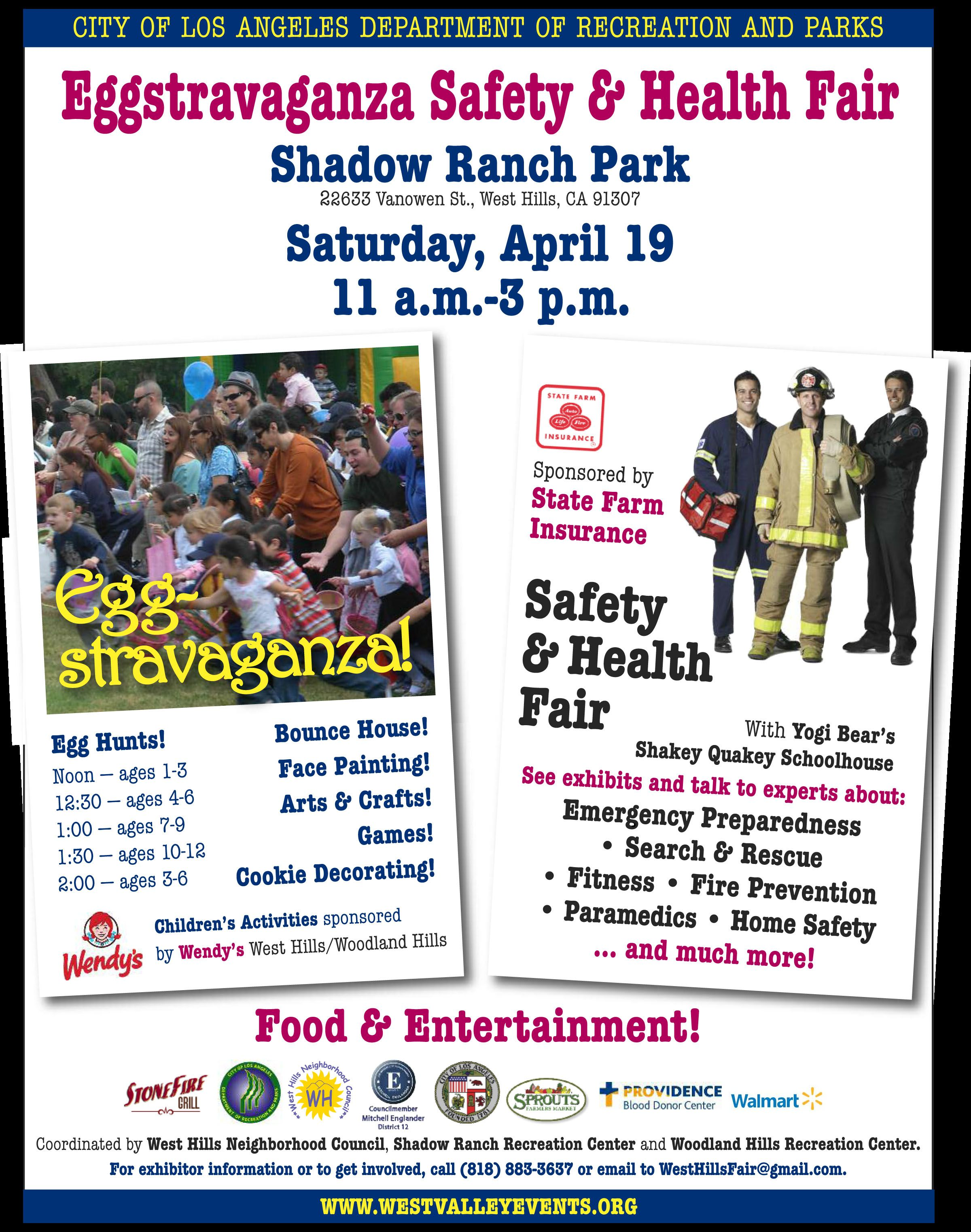 Eggstravaganza Safety & Health Fair sponsored by State Farm at Shadow Ranch Park in Woodland Hills
