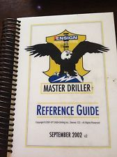 Ensign Master Driller Reference Guide-oil Field Drilling Book/rig/hand/