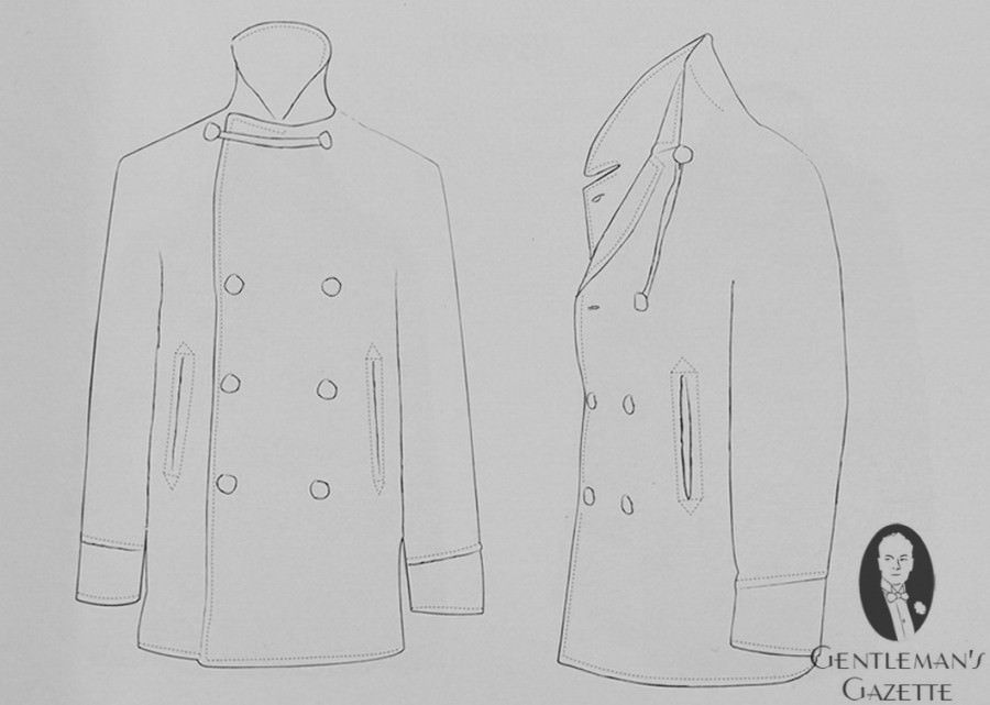 British Pea Coat Anatomy with Cordage & Buttons | fashion ...