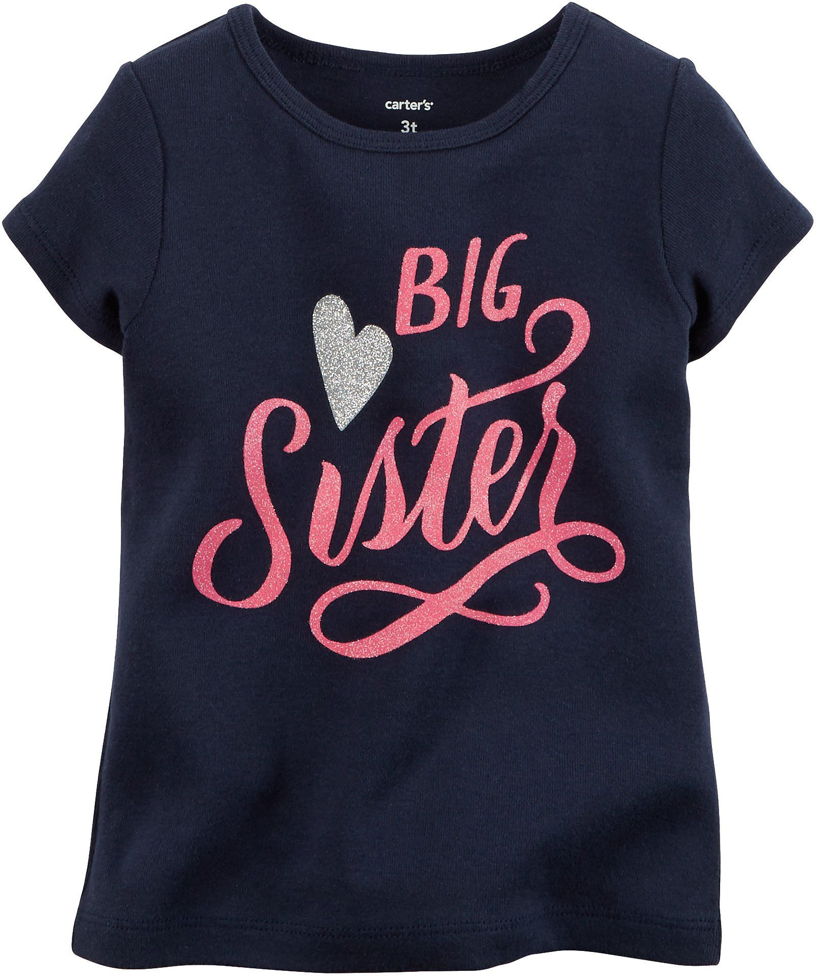 a3d175a6c975 Carters Little Girls Big Sister T-Shirt 6 Blue | Shhh we are having ...