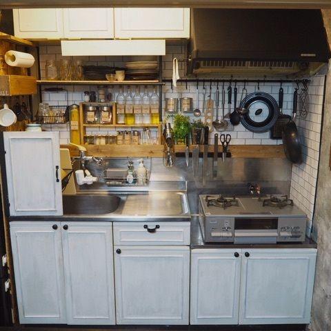 賃貸diyの原状回復 2 黒板シート剥がし キッチン Diy キッチン