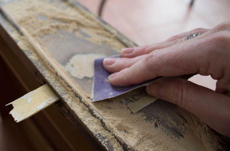 Furniture repair filling large holes in wood furniture