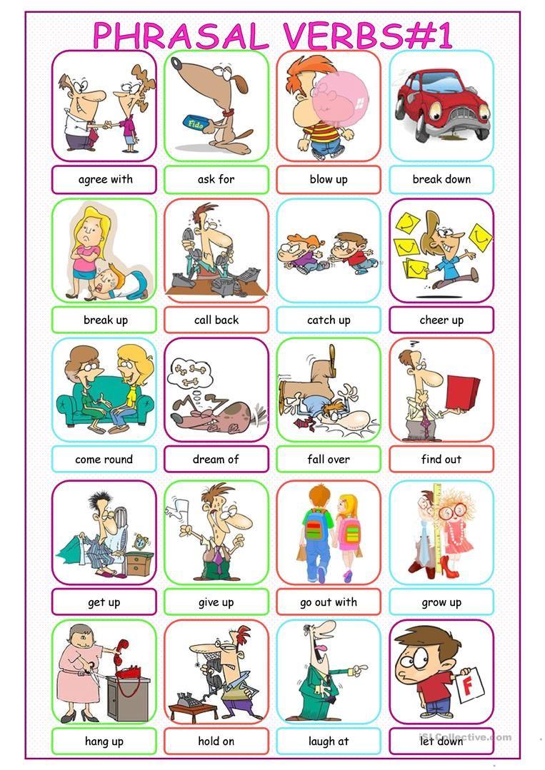 Phrasal Verbs Picture Dictionary 1 Worksheet Free Esl Printable Worksheets Made By Teachers English Idioms Picture Dictionary English Language Learning [ 1079 x 763 Pixel ]