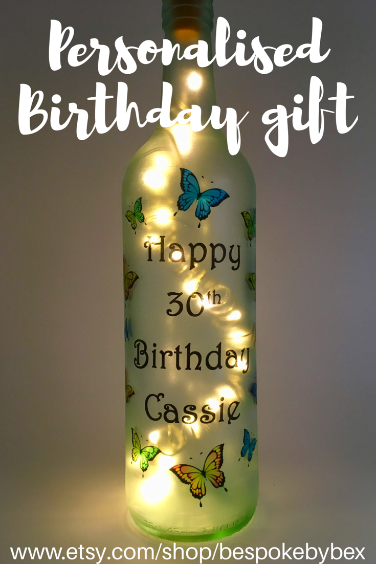 LED Light Up Bottle Personalised for Birthday or any occasion.