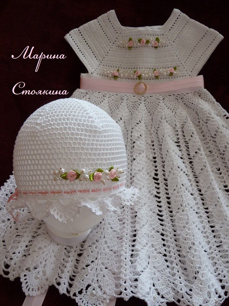 Resultado de imagen para vestidos de bautizo tejidos a crochet con ...