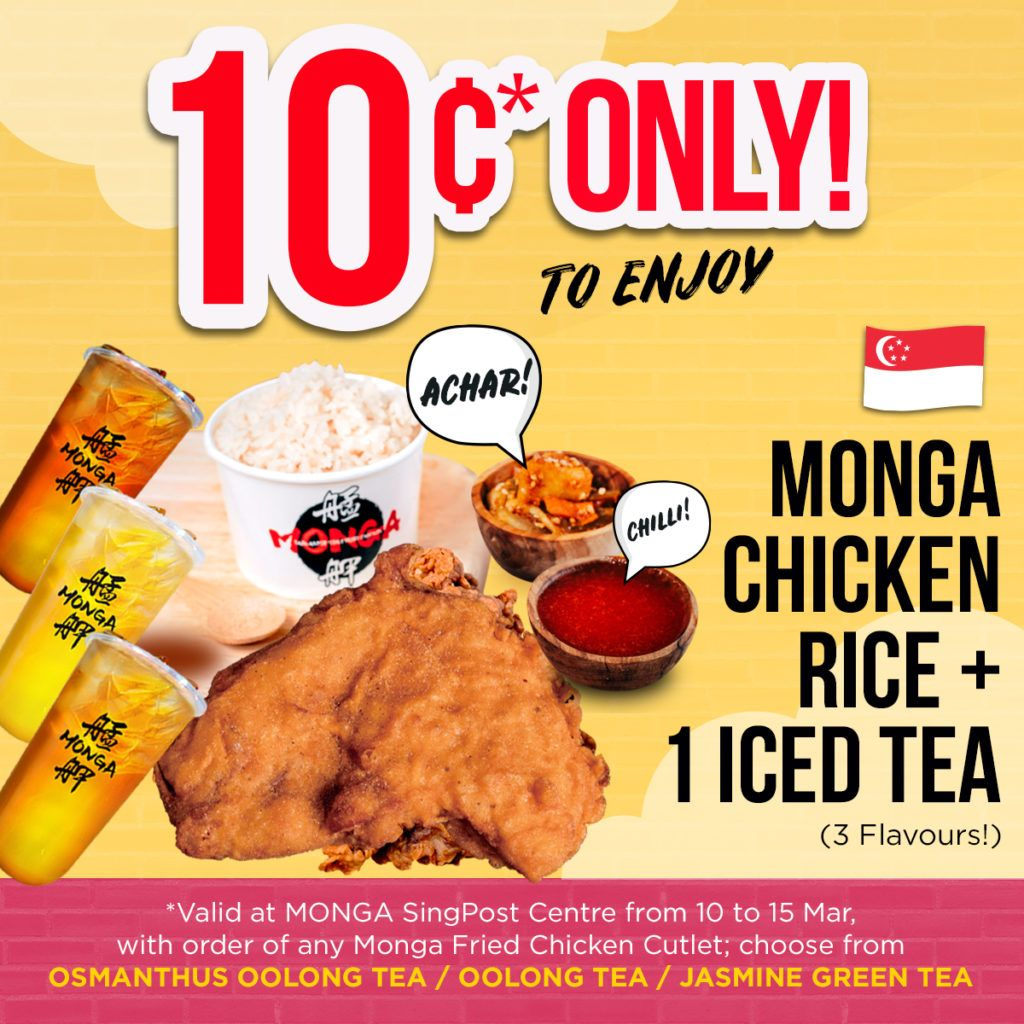 [10CENTS OFFER] Monga SingPost Centre is Offering a S$0.10 Opening Promotion