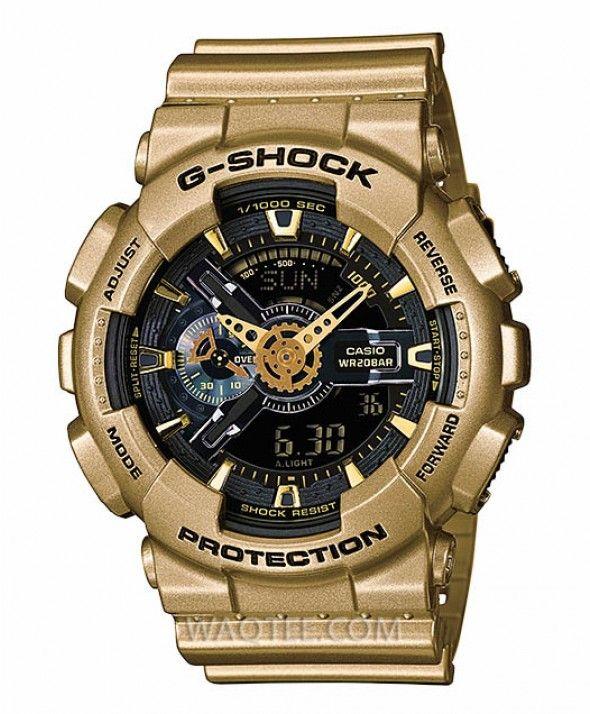 0c63585d956 Casio G-Shock Ironman All Golden Black Dial For Men
