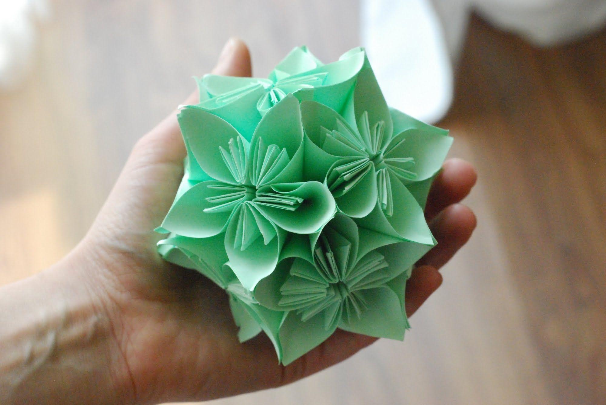 Jak Zrobic Kule Kusudama How To Make A Kusudama Ball Origami Origami Techniques Crafts
