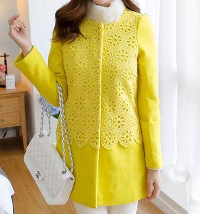 keltainen villakangastakki | Naisten vaatteet netistä - Heidi Elise - Juhlamekot, Takit, Mekot