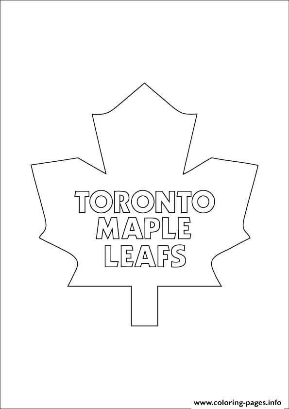 Print Toronto Maple Leafs Logo Nhl Hockey Sport Coloring Pages Sports Coloring Pages Toronto Maple Leafs Logo Toronto Maple Leafs Wallpaper