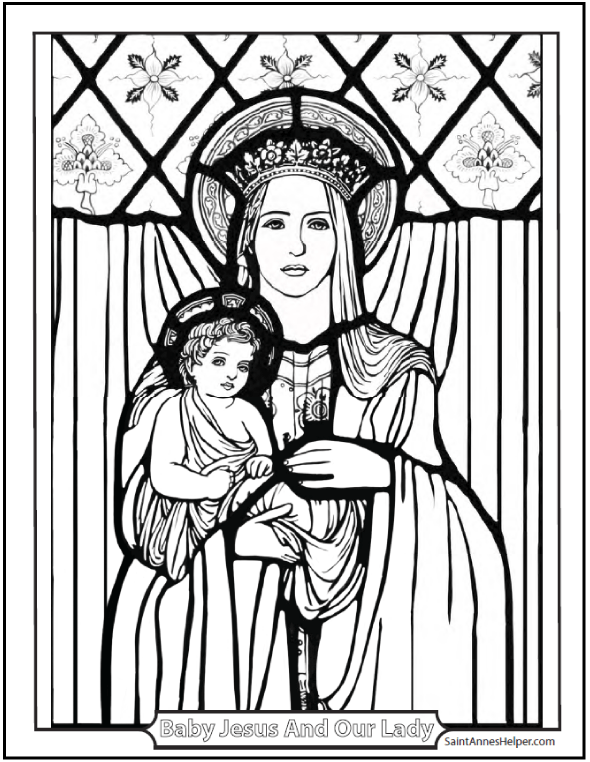 12 Mothers Day Coloring Pages Honor Mary And The Holy Family