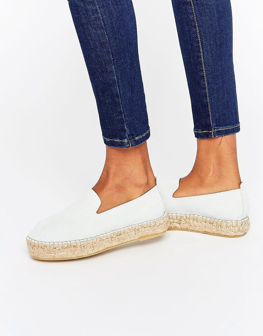 White Denim Espadrilles - White Pieces CMl7qP