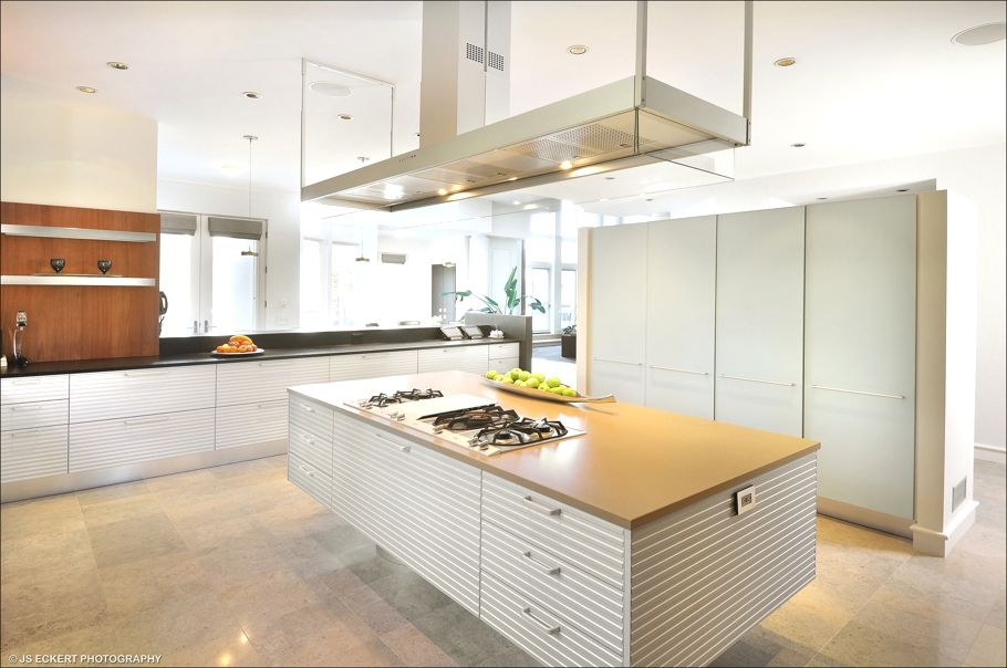 Kitchen Island Extractor Fans modern white kitchen island and cabinet under the floating