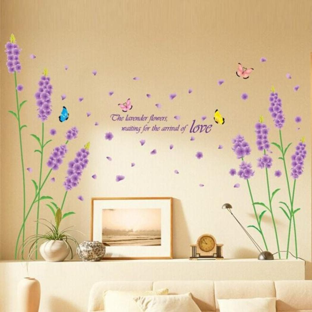 Fantastic Lavender Wall Decor Pictures Inspiration - The Wall Art ...
