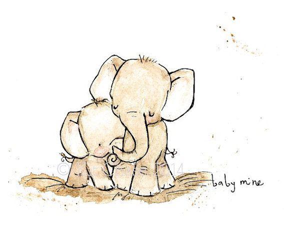 Слоник открытку для мамы