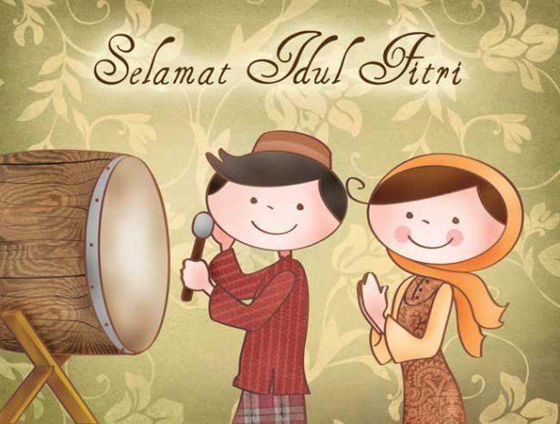 Kumpulan Kata Ucapan Idul Fitri Dan Dp Bbm Idul Fitri Bergerak Lucu Rancah Post Idul Fitri Animasi Lucu