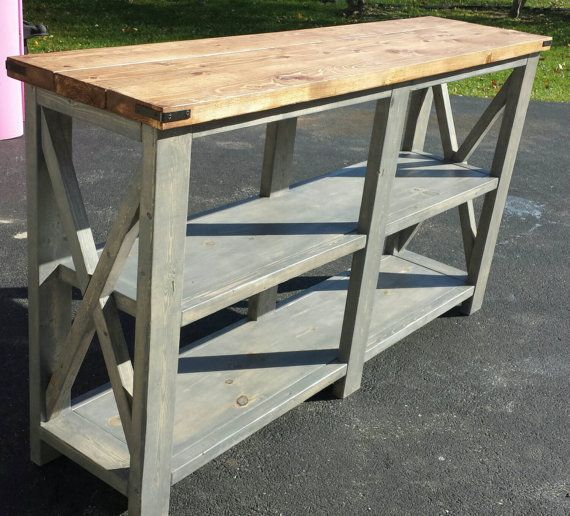 Rustic Buffet Table Standard Counter Height At 36 Tall 16 1 2 Width