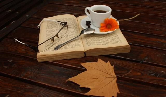 Nothing better than a cup of coffee and a book