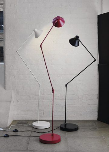 A Habitat Classic Bobby Floor Lamp In Powder Coated Metal The Lamp Can Be Used To Light Up A Dark Corner In The Room Or As A White Floor Lamp