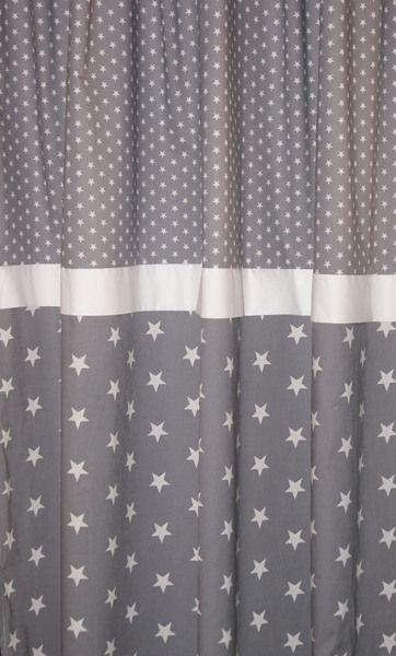 Gardine Sterne Graue Sterne Gardinen Madchenzimmer Dekoration Fensterdekoration