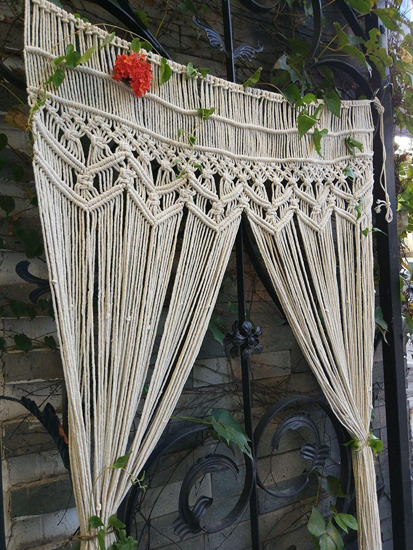 Large Macrame Curtain