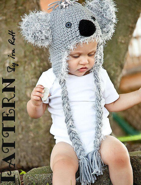 4b83b87485b Blinky Koala Bear Hat PDF Crochet Pattern