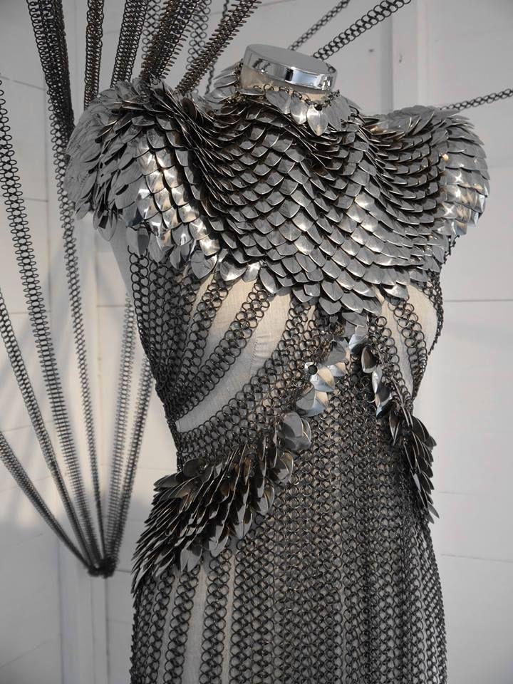 Toughtink Fringe Fashion Armor Dress Fantasy Fashion