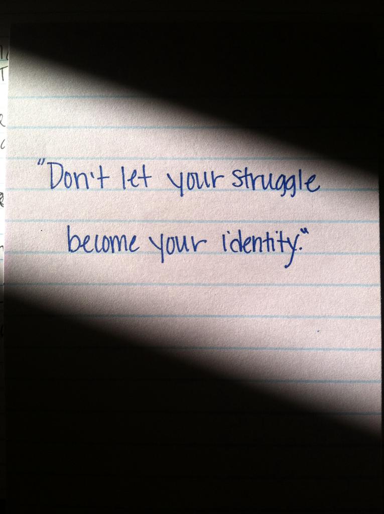struggle identity