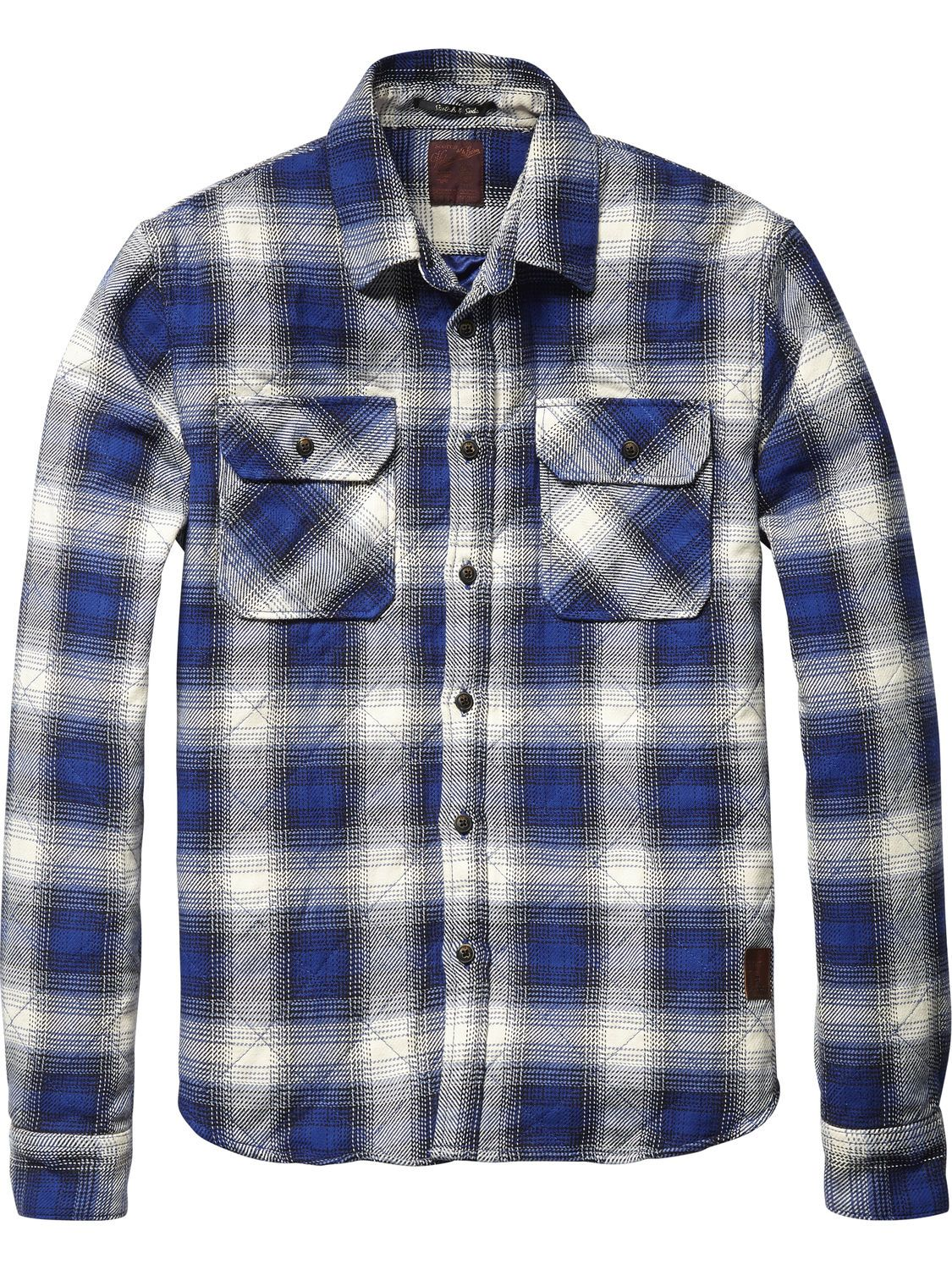 Quilted flannel shirt jacket  Quilted Flannel Shirt Jacket  Shirt ls  Menus Clothing at Scotch