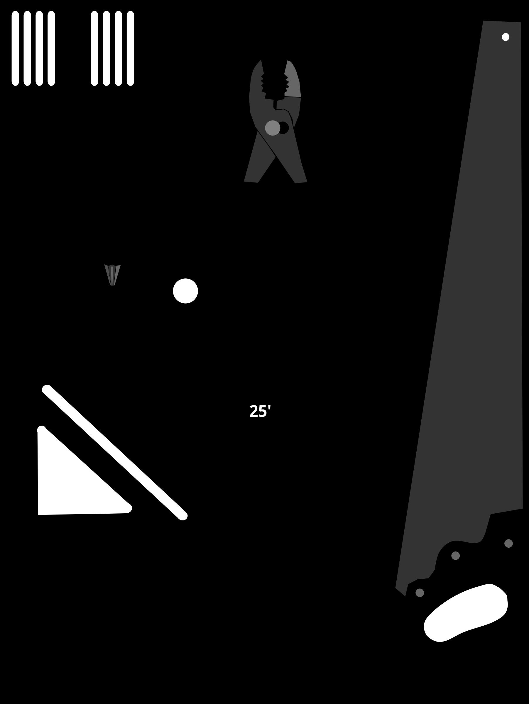 Basic Tools (silhouettes) by algotruneman, Set of basic
