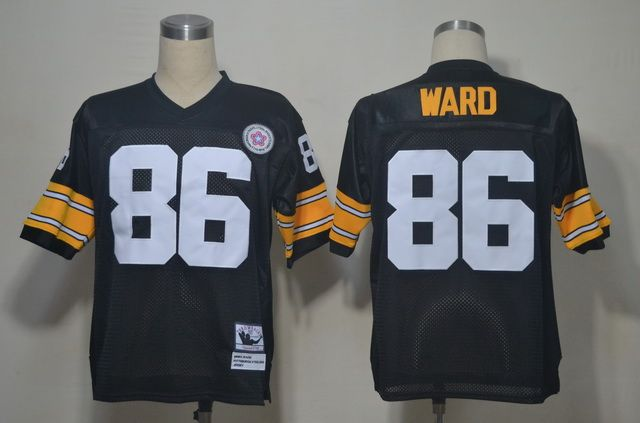 cfbe06c6a Reebok Pittsburgh Steelers  86 Hines Ward Throwback Jersey In Black ...