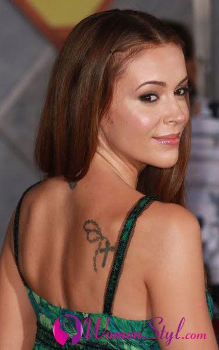 Alyssa Milano Butterfly Tattoos Celebrity Tattoos Shoulder