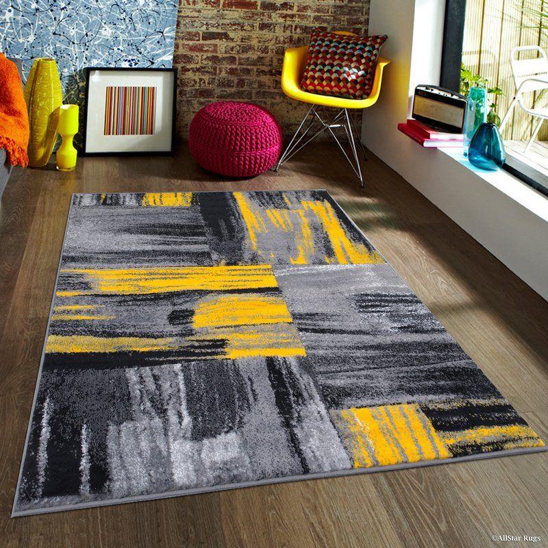 Keeler Yellow Area Rug Grey And Yellow Living Room Yellow Area Rugs Rugs In Living Room #yellow #rug #living #room