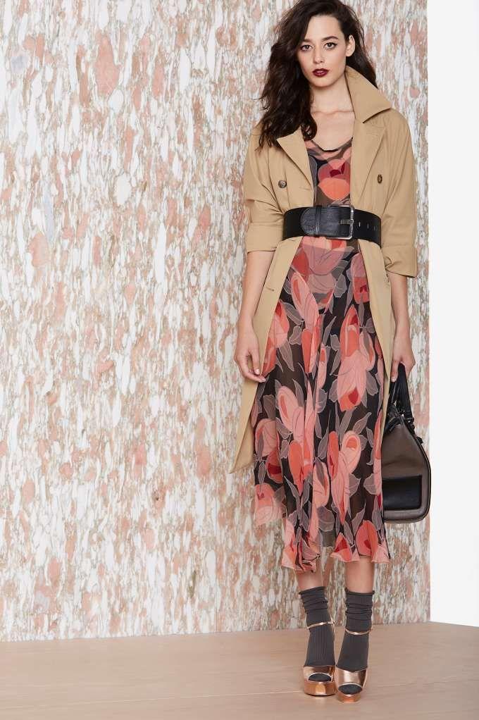 It's All A Fleur Silk Dress