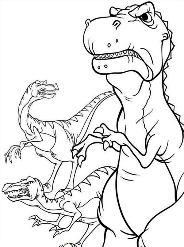 Land Before Time Furious Dinosaurus Coloring Page