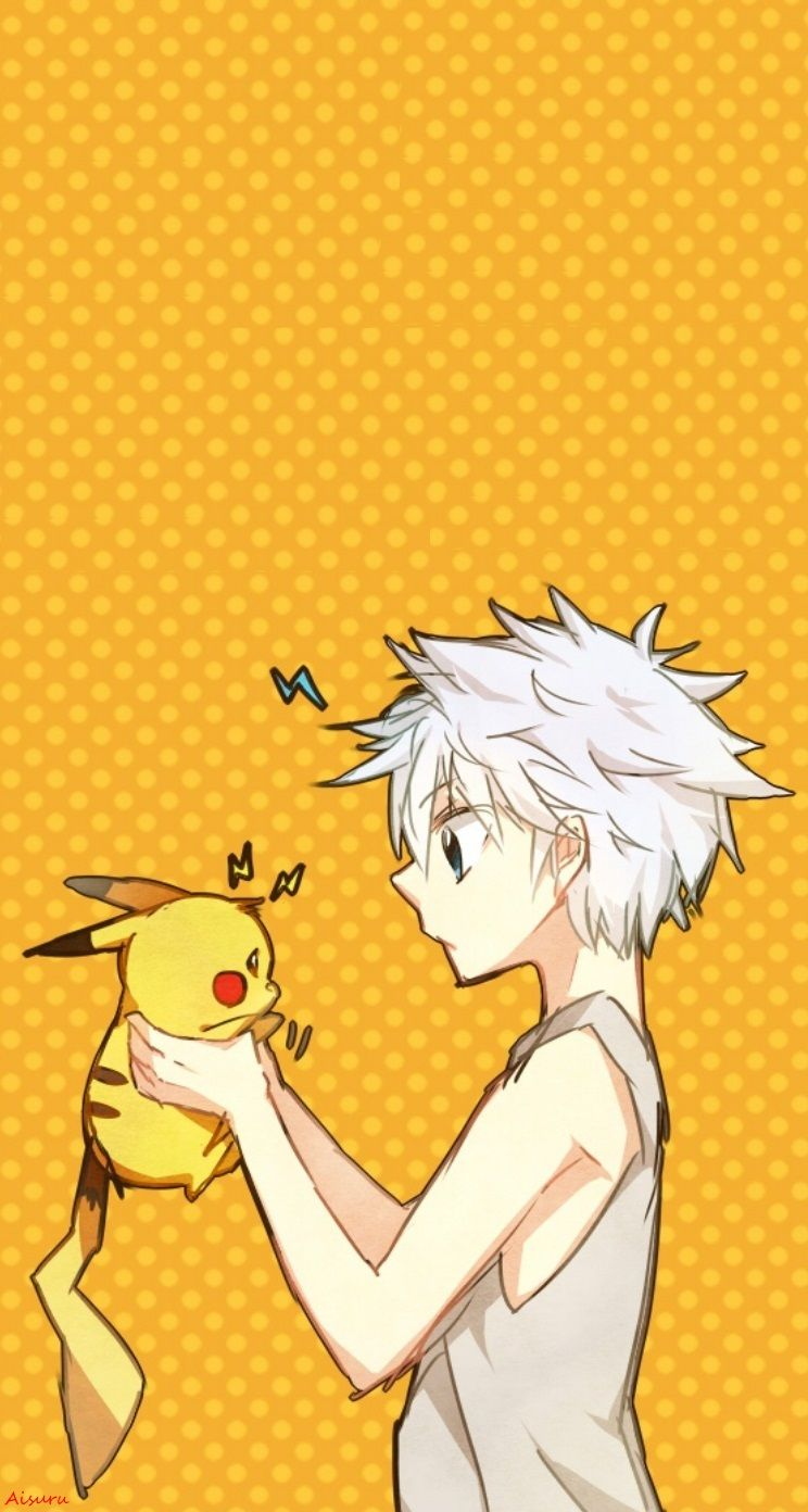 Killua Pikachu Wallpaper Iphone My Edition Aaisuru Iphone