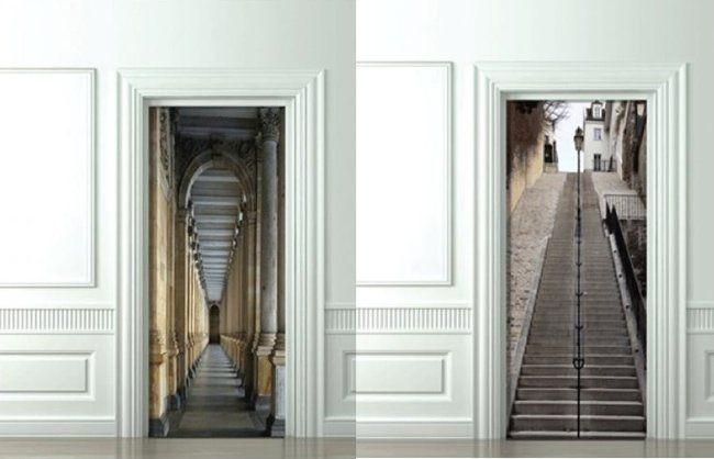 Pin de angeles morrison en vinilos de pared y puerta puertas decoracion puerta y interiores - Puertas decoradas con vinilo ...