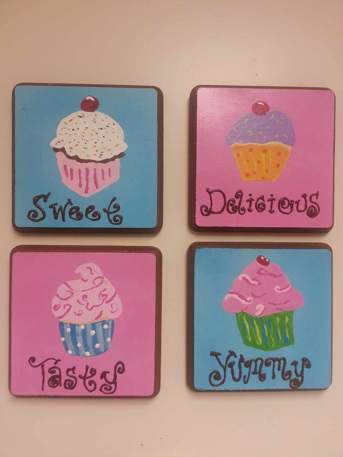 Cupcake Wall Hangings Cupcake Kitchen Decor Cupcake Bedroom Cupcake Kitchen Theme Cupcake decor for bedroom