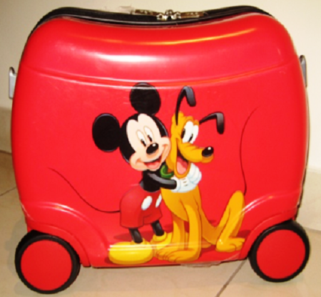 Mickey & Pluto Ride On Suitcase | Disney Purses & Bags | Pinterest ...
