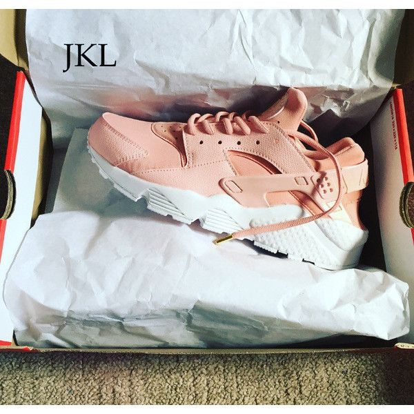 0672bc144988 Pearl Rose Gold Nike Air Huarache White Sole Customs Unisex. ( 194) ❤ liked
