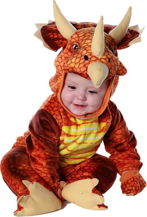 Baby Red Triceratops Costume - Party City