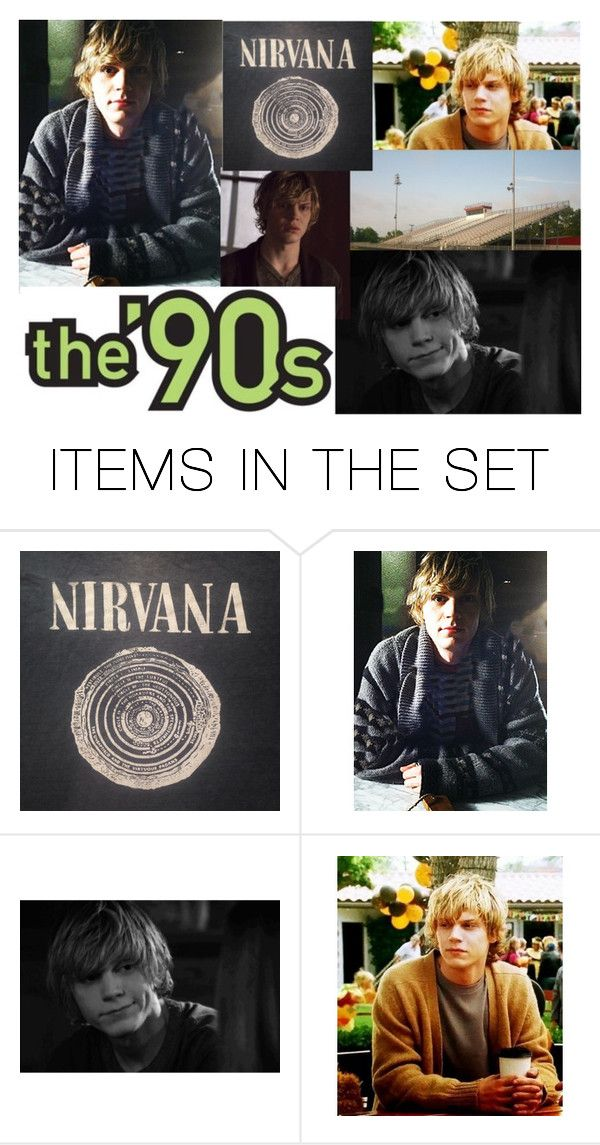 """Tate Langdon 90's plot"" by daydreamer33 ❤ liked on Polyvore featuring art"