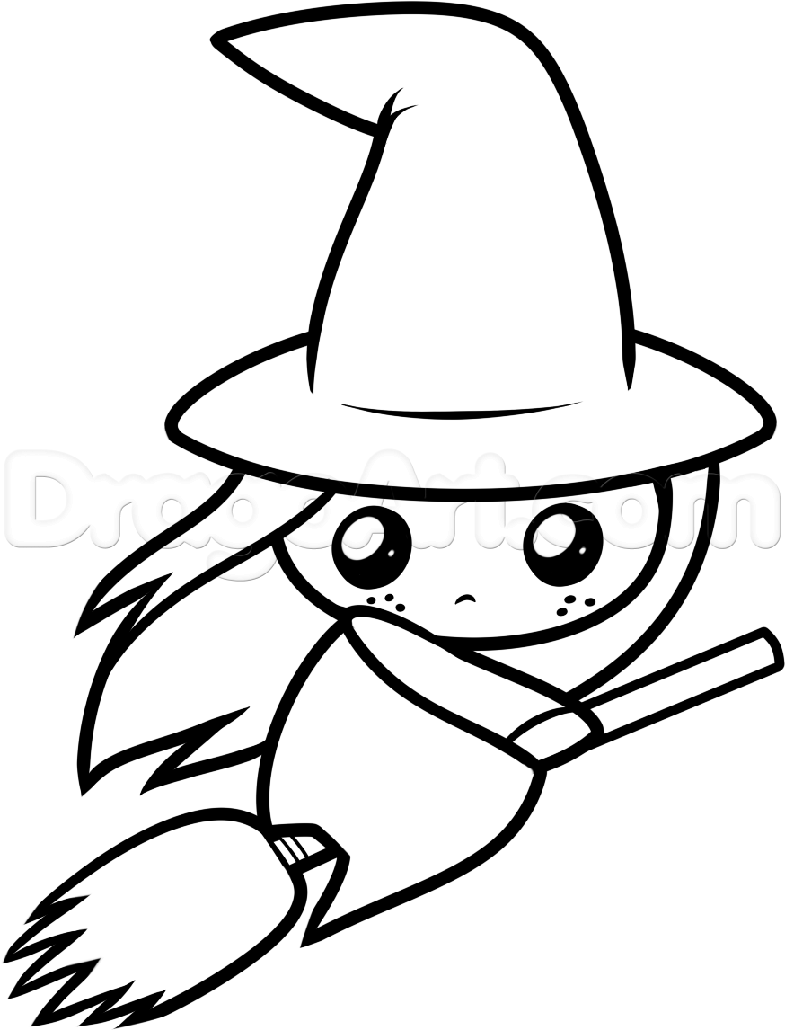 30+ Halloween Drawings Witches | Halloween drawings, Witch ...
