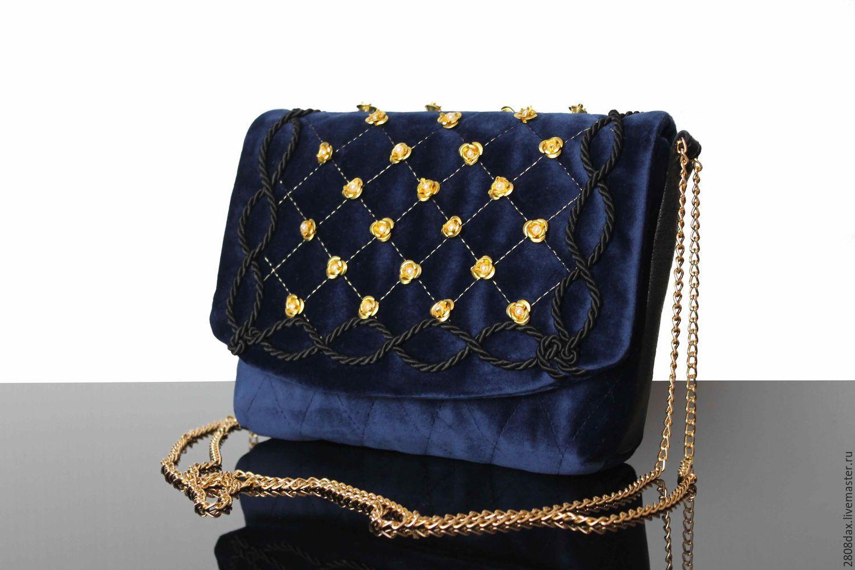 f528be63c8d4 Купить Бархатная сумочка, Театральная сумочка, вышивка, синяя сумочка -  сумочка ручной работы,